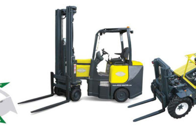 All terrain and multidirectional forklifts