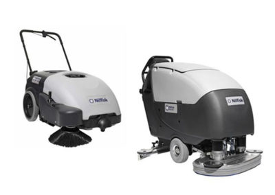 Sweepers, scrubbing machines, combined…